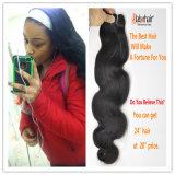естественное бразильское выдвижение 100% человеческих волос волос девственницы 9A Lbh 037