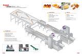 Flujo automático de la máquina de envoltura para panadería Cookeis