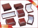 Rojo de lujo en caja de joyas Joyas de madera Set la caja