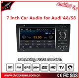 7 экран касания дюйма HD, двойной DIN, навигация автомобиля DVD GPS OS Android 5.1 для Audi A8/S8