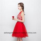 Frauen-rote kurze Heimkehr-Kleider mit Kristall-Abschlussball-Kleid