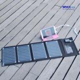 iPhone、iPad、iPodのための太陽電池パネルのPowermax高性能の携帯用Foldable I.Q.の技術のUSBの太陽充電器を折る20W 2ポート。 等(FSC-20A)