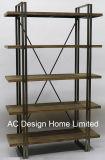 Nivel 2 Decoración Vintage de antigüedades de madera/Metal soportes de estante de hierro forjado.