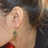 女性のPendientes Mujerの方法宝石類のアクセサリのためのかわいいトカゲの低下イヤリング