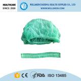 Bouffant cirúrgicos descartáveis esfregam chapéus