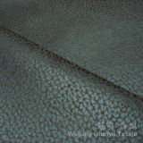 Tissu de Microfiber Nubuck de cuir de suède de clinquant d'or pour le textile à la maison