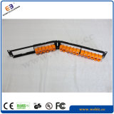 Toolless Patch Panel UTP en ángulo de 24puertos CAT6Patch Panel con el obturador