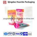リサイクルされる食品包装はジッパーが付いているプラスチックキャンデー袋を立てる