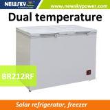 Замораживатель 12V комода компрессора 12V 24V холодильника солнечный глубокий