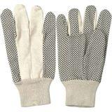 De katoenen pvc Gestippelde Palm breit Handschoenen van de Arbeid van de Duim van de Vleugel van de Pols de Absorberende