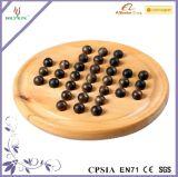 Gioco da tavolo di legno dell'insieme di scacchi del Solitaire