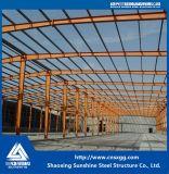 Сваренное полуфабрикат здание с строительным материалом для пакгауза