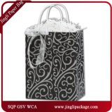 Reindeer Games Shoppers Custom Printing Luxury Black Matte Retail Sac en papier Emballage Conception