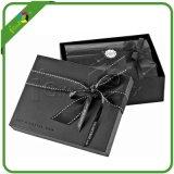 Vente en gros de boîtes-cadeaux magnétiques noir avec ruban