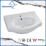 Ванная комната Semi-Recessed керамические кабинета бассейна мытья рук раковину (ACB24375)