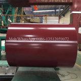 Bobine en acier en acier galvanisée enduite d'une première couche de peinture de la bobine PPGI