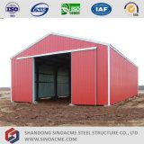 Almacén prefabricado porta de la estructura de acero de la alta calidad