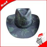 Sombrero de vaquero de paja de papel impreso