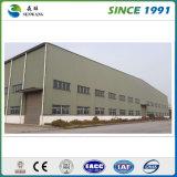 Estrutura de aço pré-fabricadas na oficina do depósito do Prédio de Produção de aço