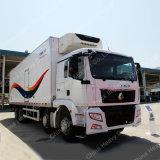 De Vrachtwagen van de Ijskast van de Dieselmotor van Sinotruk HOWO 6X4 8X4