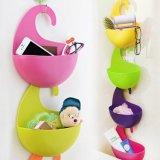 Une vie meilleure à 4 ordinateurs assemblés colorés Cabinet Set Multi-Purpose Hanging Basket Panier de rangement en plastique écologique titulaire