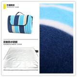 시골 Blue 및 Red Color Bar Microfiber Picnic Blanket