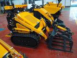 Caricatore Hy380 del manzo di pattino di /Tracked del cingolo della Cina mini con il motore a gas 23HP per l'azienda agricola
