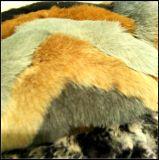 Tessuto falso lussuoso variopinto della pelliccia del Faux della pelliccia del Raccoon di nuovo disegno 2017
