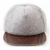 カスタムブランク明白な木の縁のウールの急な回復の帽子の帽子