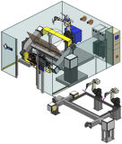Système de robotique d'Extrémité-Commutateur de modèle de «Foin-Presse»