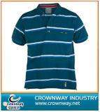 T-shirt rayé de polo de coton de la mode des hommes en gros