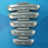 Recubierto de acero y de derivación estándar clip-on los pesos de rueda (Pb60Sn-ST)