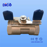 1PC Ball Valve con Butterfly Handle