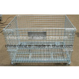 Stackbale plegable de metal Almacén Cage (1000 * 800 * 840)