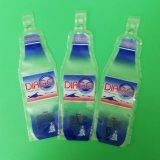 Sachet en plastique avec la forme de bouteille pour des boissons, empaquetant