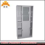 Стеклянный кухонный шкаф шкафа для картотеки офиса металла раздвижной двери