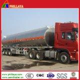 トレーラーが付いているステンレス鋼の液体燃料貯蔵石油貯蔵タンク