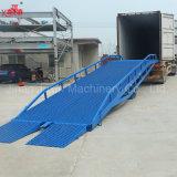 гидровлический пандус стыковки моста нагрузки контейнера передвижной для тележки