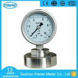 2.5 indicateur de pression de membrane de pouce 63mm 316L DN 25