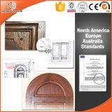 Нутряная дверь подгоняла прикрепленную на петлях дверь двери деревянную, дверь древесины красного дуба Кругл-Верхней части твердую французскую с Ce