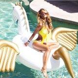 Schwan-Ananas-aufblasbarer sich hin- und herbewegender Gleitbetriebs-Pegasus-Pool-Gleitbetrieb