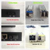 Conmutador de fibra óptica industrial de montaje en pared y DIN-guide