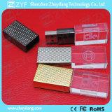 En relieve Cristal USB tapa de metal DOT Flash Drive (ZYF1528)