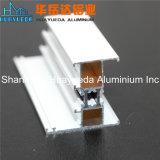Perfis de alumínio revestidos da extrusão do pó branco para o Wardrobe