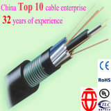 Cable de fibra óptica al aire libre de 72 conductos fabricado en China