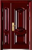 Puerta de acero de la seguridad para el exterior (negro y rojo marrón)