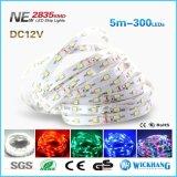 2835 nueva 12V luz de tira impermeable de dc de SMD los 60LED/M 5m LED