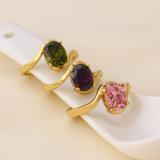 11093 anello dei monili placcato colore caldo dell'oro di vendita 14k di modo