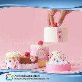 Lindo papel cartón de embalaje de alimentos/ Torta (XC-fbk-032)