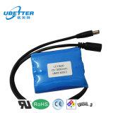 Le pack batterie rechargeable de la batterie d'ion de lithium 12V 2600mAh a personnalisé
